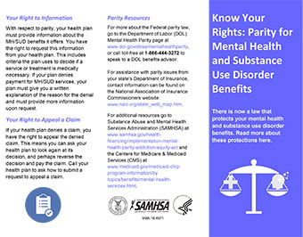 Know Your Rights: Parity for Mental Health and Substance ...