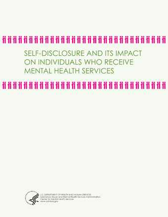 Self-Disclosure and Its Impact on Individuals Who Receive Mental Health Services