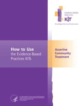 Assertive Community Treatment (ACT) Evidence-Based Practices (EBP) KIT