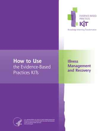 Illness Management and Recovery Evidence-Based Practices (EBP) KIT