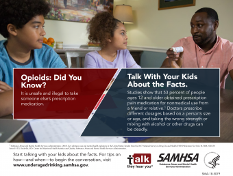 Talk. They Hear You: Opioids: Did You Know? – Infographic