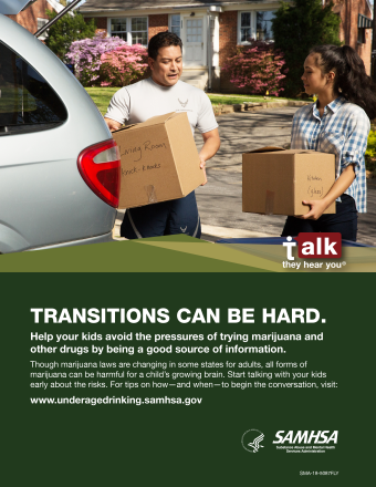 Talk. They Hear You: Transitions Can Be Hard Print Public Service Announcement – Flyer (Military)