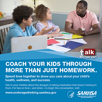 Talk. They Hear You: Coach Your Kids Through More Than Just Homework Print Public Service Announcement – Wallet Card