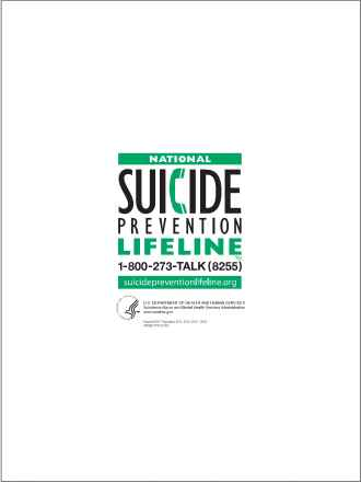 National Suicide Prevention Lifeline Card