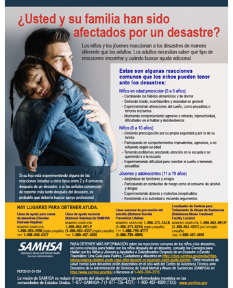 Have Your or Your Family Experienced a Disaster? (Spanish version) - ¿Usted y su familia han sido afectados por un desastre?
