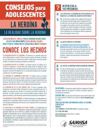 Tips for Teens: The Truth About Heroin (Spanish Language Version) - Consejos para adolescentes: la realidad sobre la heroína