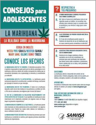 Tips for Teens: The Truth About Marijuana (Spanish Language Version) - Consejos para adolescentes: la realidad sobre la marihuana