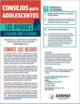Tips for Teens: The Truth About Opioids (Spanish Language Version) - Consejos para adolescentes: la realidad sobre los opioides