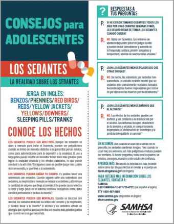 Tips for Teens: The Truth About Sedatives (Spanish Language Version) - Consejos para adolescentes: la realidad sobre los sedantes