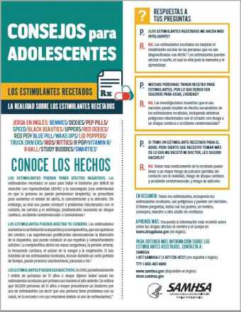 Tips for Teens: The Truth About Stimulants (Spanish Language Version) - Consejos para adolescentes: la realidad sobre los estimulantes