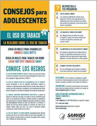 Tips for Teens: The Truth About Tobacco (Spanish Language Version) - Consejos para adolescentes: la realidad sobre el tabaco